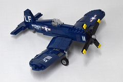 Vought F4U4 Corsair (2) (Dornbi) Tags: lego aircraft wwii vought f4u f4u4 corsair navy marines us naval