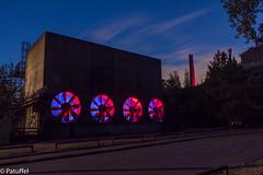 blue-red Ventilator (patuffel) Tags: landschaftspark ventilator red blue hour blau rot park landschaft landscape duisburgnord industry route duisburg industriekultur aircondition