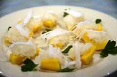 Xoi Mit Thai-style jackfruit dessert, with glutinous rice and coconut cream - from Springvale (avlxyz) Tags: fb jackfruit stickyrice dessert sweet