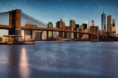 Brooklyn Bridge (Bob90901) Tags: 2016 6d april brooklynbridgepark canon newyokcity spring sliderssunday rpg90901 topaz processed manhattan oneworldtradecenter brooklynbridge architecture longexposure filter leebigstopper nyc canonef2470mmf28liiusm outdoor water eastriver hss
