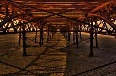 Under the Boardwalk (Billy McDonald) Tags: hdr undertheboardwalk stannes beach pier shadows iron sunset