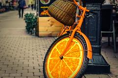 """Orange mood"" ""Orange mood"" (stas.kirenkov) Tags: 500px city street cityscape       saintpetersburg russia petersburg  stpetersburg sanktpeterburg   russianfederation orange bicycle"