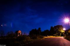 Quiet Nightly Street (AltoScroll) Tags: night darkness street low light blue sky
