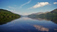 Loch Lomond View 3 (brightondj - getting the most from a cheap compact) Tags: lochlomond scotland ferry water loch scotlandaugust2016 reflection sky clouds trossachs thetrossachs inversnaid summer2016 holiday summerholiday uk britain ukholiday