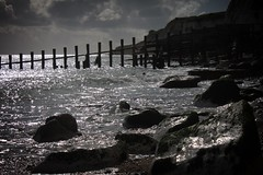 Beachwalk 2 (Stu G2006) Tags: canon eos 500d eastbourne holywell groynes cliffs