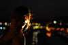 candles (pepe amestoy) Tags: streetphotography nightphotography portrait people bokeh elcampello spain fujifilm xe1 carl zeiss t planar 250 zm leica mount