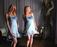Ice Blue Hand-dyed Sip Dress (RunzwithScissors) Tags: runzwithscissors etsy egl handmadeclothing handdyed slipdress reconstructedclothing