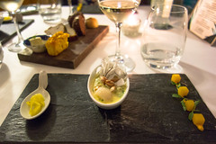 Resturant i Latina in Buenos Aires, Argentina (morten f) Tags: ilatina latina resturant buenos aires argentina food eating taster menu wine barstyle ceviche with seasonal fish mango biche coconut lychee baru