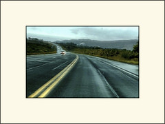 Driving home (Bob R.L. Evans) Tags: highway road weather rain highwaystripe ipadphotography