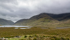 Mweelrea in the clouds (arthur.harrow) Tags: autumn mayo nature mountain ireland doolough glencullinlough clouds connaught delphi lake benbury mweelrea benlugmore