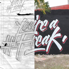 Sketch  Wall (Abel Snchez.) Tags: lettering letters freak wall script handwritting handmadelettering paint design graphicdesign type typography sketch