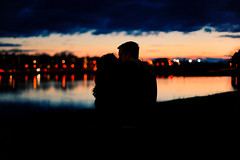 (tyreke.white) Tags: sunset sky reflection silhouette canon river 50mm bokeh mark 14 ii 5d twinkling