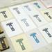 Chromatic T wood type blocks and prints