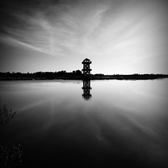 The Tower (Postcards From The Edge Photography) Tags: sky water florida bradenton vapourtrails blackwhitephotos robinsonsperserve