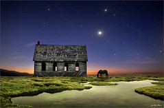 Dinner (Jean-Michel Priaux) Tags: sunset sky horse house nature night photoshop plane river landscape fantastic dream surreal unreal paysage abandonned milkyway terrific priaux mygearandme rememberthatmomentlevel1