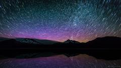 Aurora Borealis Trails (tobyharriman) Tags: pictures summer lake mountains night centraloregon canon reflections stars landscape p