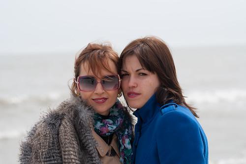 Olga & Natalia at beach
