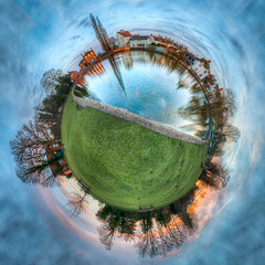 14/52 Doctors Pond Little Planet (Mark Seton) Tags: globe places essex hdr greatdunmow dunmow littleplanet uttlesford doctorspond