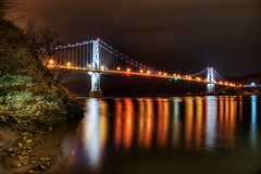 Mid Hudson Bridge / FDR Bridge, on March 31, 2013 (mudpig) Tags: longexposure bridge ny newyork night geotagged poughkeepsie hudsonriver hdr fdr mudpig midhudson stevekelley stevenkelley