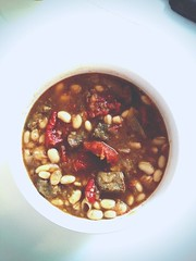 Braised beef with sun-dried tomatoes and white bean stew (emandwitdesign) Tags: winter recipe soup spring onions oliveoil whitewine broth thyme savory sundriedtomatoes umami braise whitebeans beefstew beefchuck stewrecipe