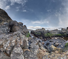 Arch access (M4078772orf 0pvh5) (Mel Stephens) Tags: uk panorama water rock landscape geotagged coast scotland spring rocks aberdeenshire olympus panoramic best coastal april gps scape zuiko stitched hdr 43 omd ptgui m43 q2 fourthirds muchalls 2013 em5 mirrorless mmf3 micro43 microfourthirds 918mm 201304 snshdr 20130407