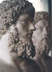 Muse du Louvre (sftrajan) Tags: portrait sculpture paris france museum beard ancient muse bust 1997 museo barba musedulouvre thelouvre ancientrome  museodellouvre