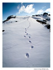 Leave only footprints...( explored ) (Douglas Hamilton (jerry lee fan)) Tags: winter snow mountains scotland fuji ben hamilton footprints hills douglas venue stirlingshire hillwalking benvenue hs10 photographyforrecreation