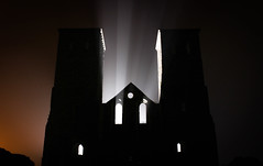 Reculver. (AndrewAJBuckley) Tags: light castle silhouette canon bay ruins exposure darkness eerie creepy edit herne lightroom thanet reculver lightstream 600d