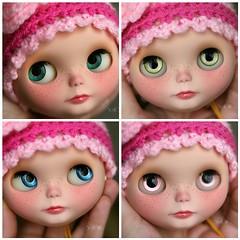 Lola's handpainted eyechips :)