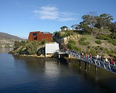 MONA Arrival (martyr_67) Tags: art ferry museum nikon australia mona tasmania 24mm arrival hobart nikkor f28 ais d800