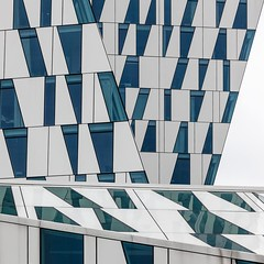 3XN. Bella Sky Hotel #7 (Ximo Michavila) Tags: blue urban abstract building geometric lines wall architecture copenhagen denmark hotel graphic perspective diagonal cph archidose 3xn archdaily bellasky archiref