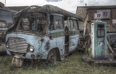 'Bus stopped' (Timster1973 - thanks for the 9 million views!) Tags: travel blue colour bus abandoned buses canon tim rust transport ruin rusty abandon forgotten urbanexploration transportation rusting wreck forgot derelict abandonment wrecked hdr decayed decaying dereliction ue ruined urbex photomatix timknifton timster1973 knifton