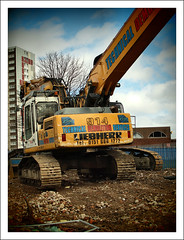 Technical Demolition Services (Ben.Allison36) Tags: uk urban tower drive decay glasgow olympus demolition flats technical highrise block 16 clearance services slum e600 pinkston