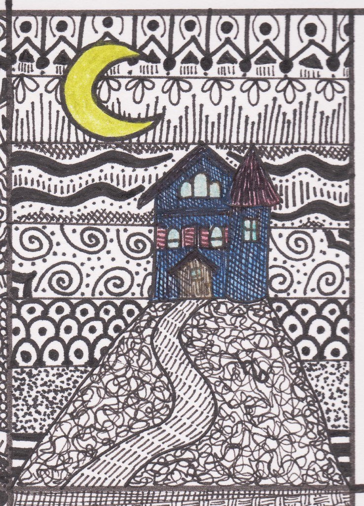 The World's Best Photos of halloween and zentangle