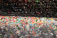 Gum on the ground (vibrant_art) Tags: seattle street art wall kids gum washington colours sticky playful postalley
