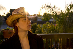 Day 2276 (evaxebra) Tags: morning sun hat sunrise cowboy flare 365 wh 365days evaxebra