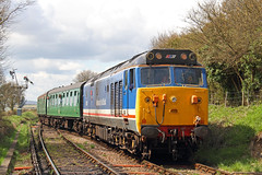 Lion (Treflyn) Tags: english station electric train br diesel lion rail railway loco class line british locomotive network southeast 50 bound gala alton arrives revised watercress livery ropley midhants 50027 liveried