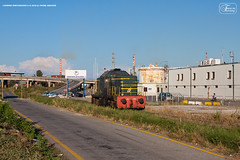 1003 - 143_3006 LIVORNO PORTONUOVO  6-8-2010 (Frank Andiver TRAIN IN TUSCANY) Tags: italy train canon frank photo italia photos rail trains tuscany rails locomotive toscana treno fs trenitalia treni ferrovie binario andiver