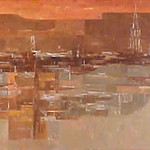 "<b>Strange City, Evening</b><br/> Cyrus Running, LFAC # 93, Oil, Painting<a href=""http://farm9.static.flickr.com/8400/8698279177_b0d5ab722d_o.jpg"" title=""High res"">∝</a>"