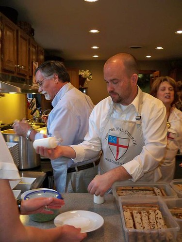 <p>Plating the delicious cuisine:  Stephen Bryson, Tom Pope, Tamara McClure</p>