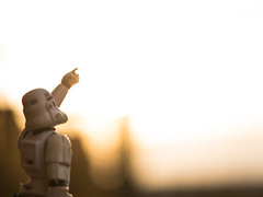 may the 4th be with you (Kalexanderson) Tags: sunset trooper toys starwars nikon alone outdoor stormtrooper waving d800