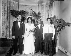 Wedding of Mr and Mrs James Armstrong in Washington, DC, 1930s (vieilles_annonces) Tags: washingtondc thirties 1930s 30s scurlockphotography blackwashingtonians thejamesarmstrongwedding