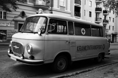 Werk XV. Barkas (gambit03) Tags: auto bw berlin car blackwhite automobile scene ambulance ddr sw filming ff gdr raab westgermany germandemocraticrepublic ndk bundesrepublikdeutschland filmshooting dreharbeiten gyor kulisse aut barkas krankenwagen gyr schwarzweis deutschedemokratischerepublik feketefehr dszlet filmforgats rvfalu nszk themissionary mentaut