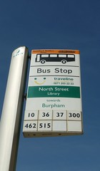 North Street library lower bus stop (bobsmithgl100) Tags: bus library flag surrey stop guildford route36 northstreet route10 route37 route300 route462 route515 route515a