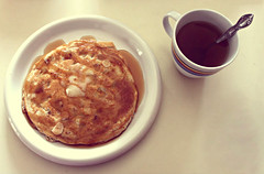 Pancake and tea (~Natalie Hope~) Tags: morning food breakfast tea syrup pancake