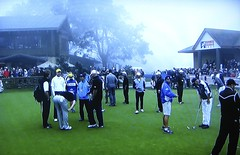 Torrey Pines GC (South), Practice Green in Fog Delay (rbglasson) Tags: california golf landscape tv torreypines lajolla canons5is