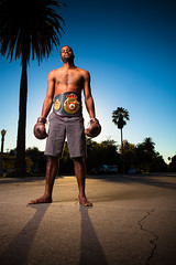 Boxer Mike (Hal Bergman Photography) Tags: california portrait people mike outside person la losangeles portraiture boxer africanamerican pasadena boxing contender strobes michaelthomas