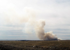 Wildfire, Grasslands National Park (Red Calf Studio) Tags: wildfire grasslandsnationalpark redcalfstudio colleenwatsonturner prairiewildfire