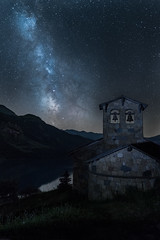 once upon a time in french alps (anthony.vairos) Tags: light photo photography photographie night nightscape 2exposures high iso nikon d750 fullframe pleinformat dslr sigmaart sigma art 24mm f14 lightroom photoshop manfrotto black diamond landscape paysage milkyway voie lactée stars summer chapel france savoie montain french alps roseland astrometrydotnet:id=nova1677528 astrometrydotnet:status=failed