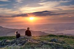 Enjoying the Sunset (JSP92) Tags: ladies girls sunset sun sunglasses scotland warm unitedkingdom hill enjoy usb gb tone falkland